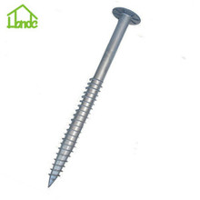 Hevy duty large galvanized steel ground screw