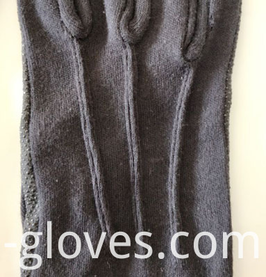 Long Wrist Cotton Sure Grip Marching Band Gloves black