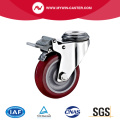 Braked Bolt Hole PU Stainless Steel Caster