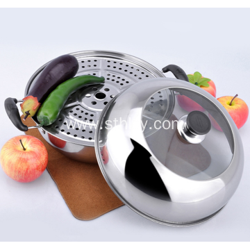 Stainless Steel Double Deck Steamer Pot