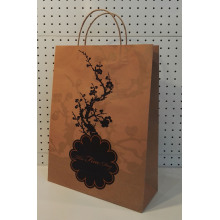 Cheap for Natural Brown Kraft Paper Bag Order Shopping Bags With Logo supply to Syrian Arab Republic Supplier
