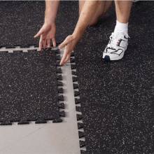 Factory Price for Interlocking Rubber Gym Flooring High Density Interlocking Rubber Floor Tiles export to Italy Suppliers