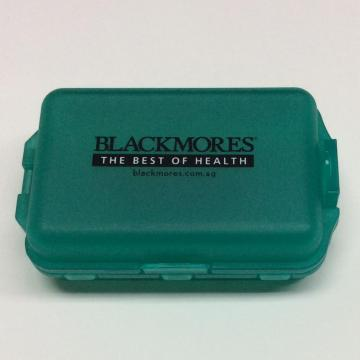 Plastic portable sealed double-layer pill case