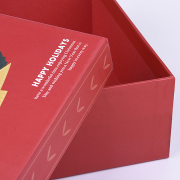 Promotional Luxury Red Square Christmas Gift Paper Box