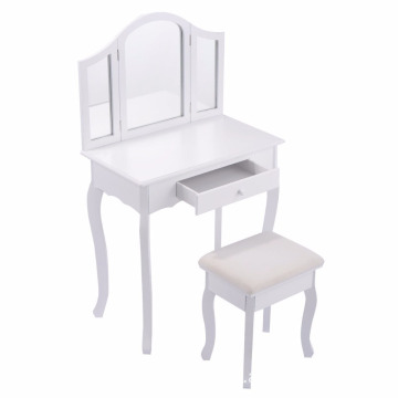 wooden dressing table simple modern dressing table with mirror bedroom home furniture MDF dresser