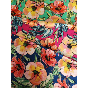 Hand-draw Rayon Challis 30S Light Printing Fabric