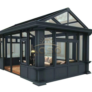 High Quality for Glass Sunroom Sun Room Kit House Russia Wooden Porch Enclosure supply to Mozambique Manufacturers