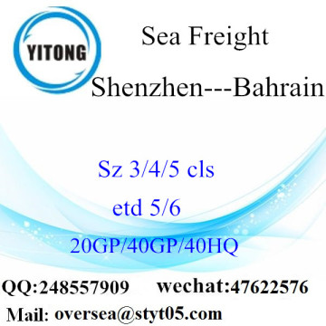 Shenzhen Port Sea Freight Shipping To Bahrain