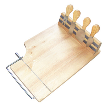 Cheese slicer oak wood cheese board