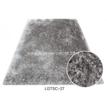 Elastane and 150D Silk Shagy floor rug