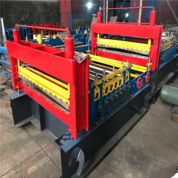 Leveling and straightening machine