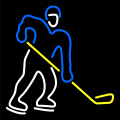 HOCKEY LIGHTED NEON SIGN