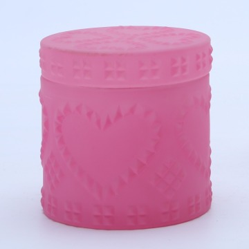 Valentine's Day Gift Decorative Pink Glass Jar