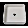 Square acrylic stone resin bathroom basin for cabinet
