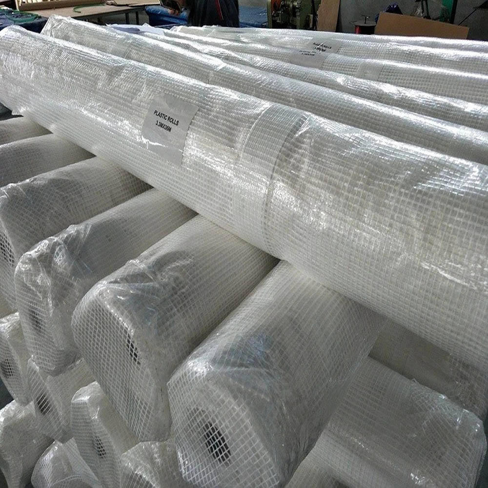 2m X 45m Clear Tarpaulin Scaffold Sheeting Roll