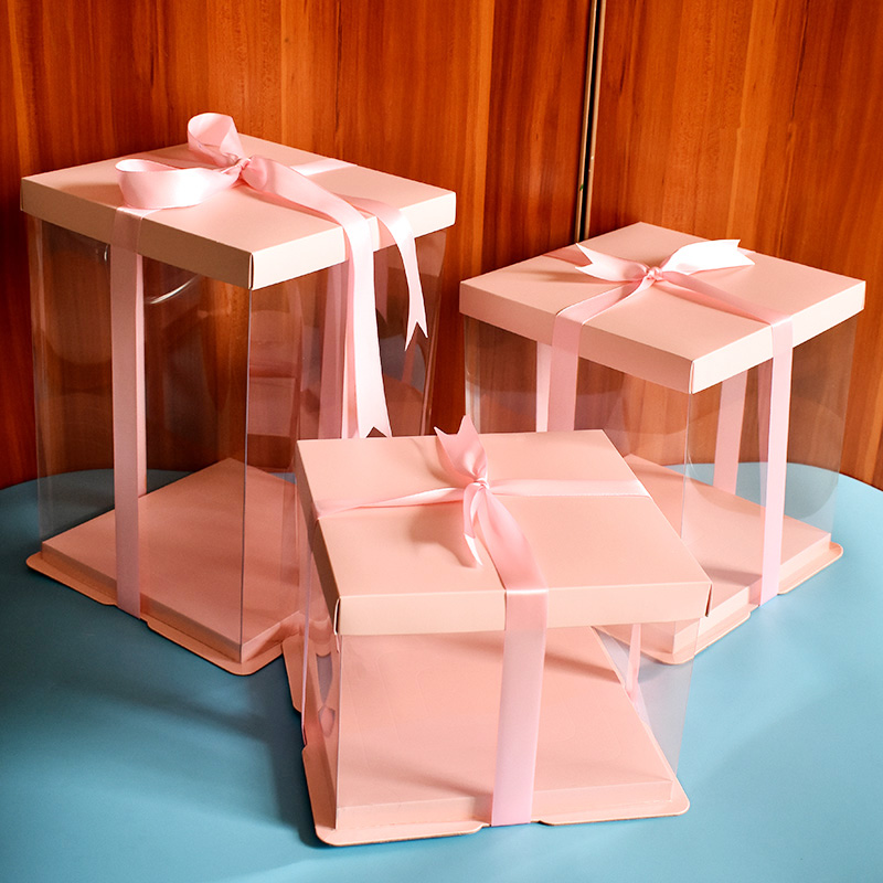 Clear plastic birthday cake box