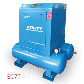 EC7T 10hp screw air compressor with tank