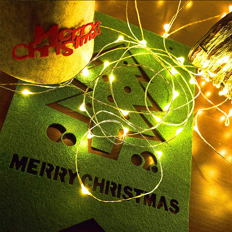 christmas decorative copper wire fairy string light
