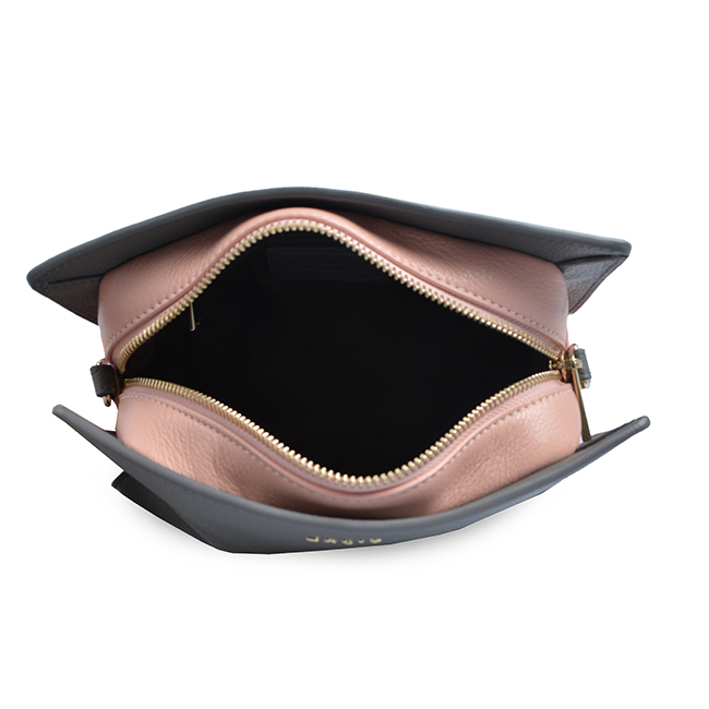 Premium Quality Price Pink Brown Grey Black Navy Saffiano Genuine Leather Ladies Branded Crossbody Bag