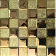 luxury golden glass mosaic