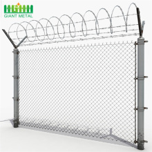 hot dipped galvanized 9 gauge chain link fence
