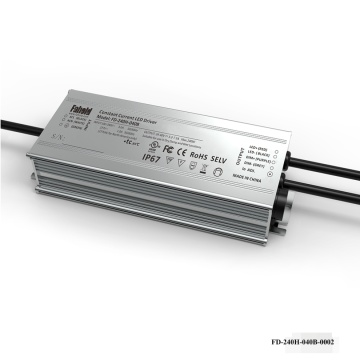 240W IP Rated Aluminum Driver 0-10V Dimming