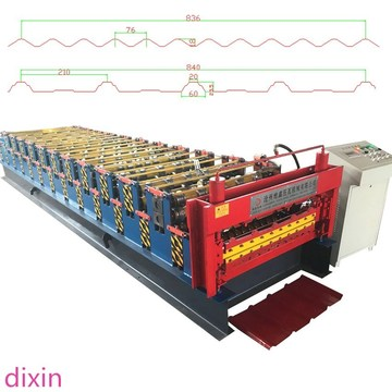 Colored Steel Double Layer Roof Building Machine