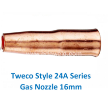 ODM for Gas Cutting Nozzle Tweco 24A62 Gas Nozzle export to China Macau Suppliers