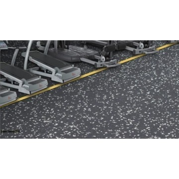 Recycled Rubber Floor For Gym packing into rolls