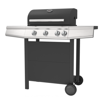 3 Burner Gas Barbecue Grill with Side Burner