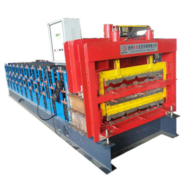 Three layers profile tile roofing forming machine