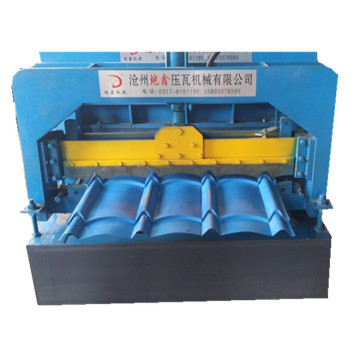 Glazed roof steel sheets roll forming machine