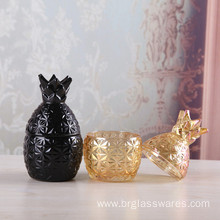 Chinese Professional for Glass Candle Jar Mini Pineapple Shape Glass Candle Jar export to France Manufacturer