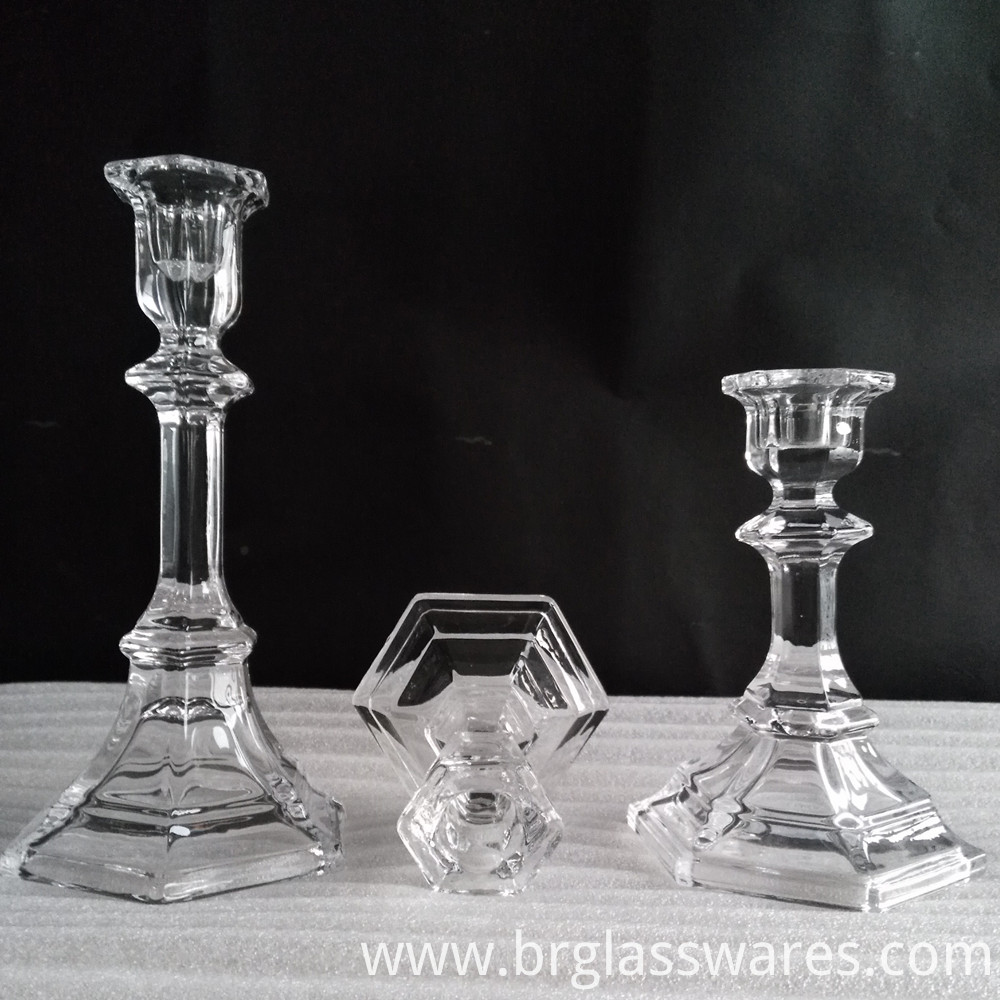 crystal glass candle holder 2
