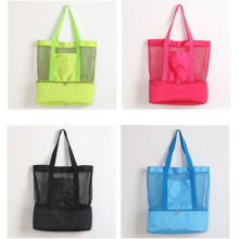 Lightweight Mesh Insulated Picnic Cooler Beach Tote Bags