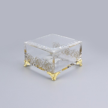 Hot selling square acrylic jewelry organizer