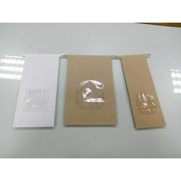 Paper Quad seal bag with tin tie/ valve