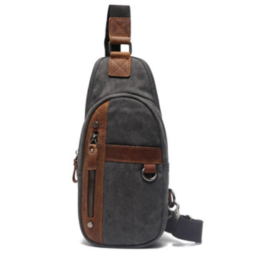 Trendy Canvas Mens Chest Messenger Sling Bag