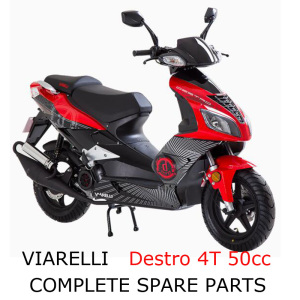 Viarelli Destro 4T 50cc Scooter Part Complete Parts