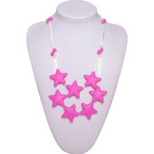 Amazon hot selling silicone baby teething necklace