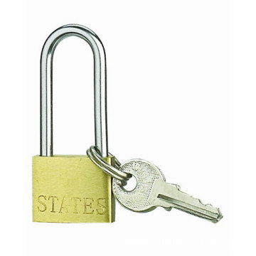 China for Thin Type Brass Padlock 20MM Thin Brass Padlock High Security Long Shackle export to Norway Suppliers