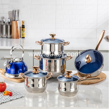 Hot Wholesale Stainless Steel Cookware Set