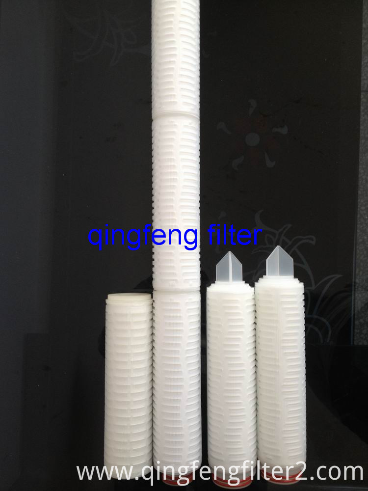 0.2um 0.45 Micron Pleated 10'' 20 Inch Nylon Filter Cartridge for Pharmaceuticals and Beverage