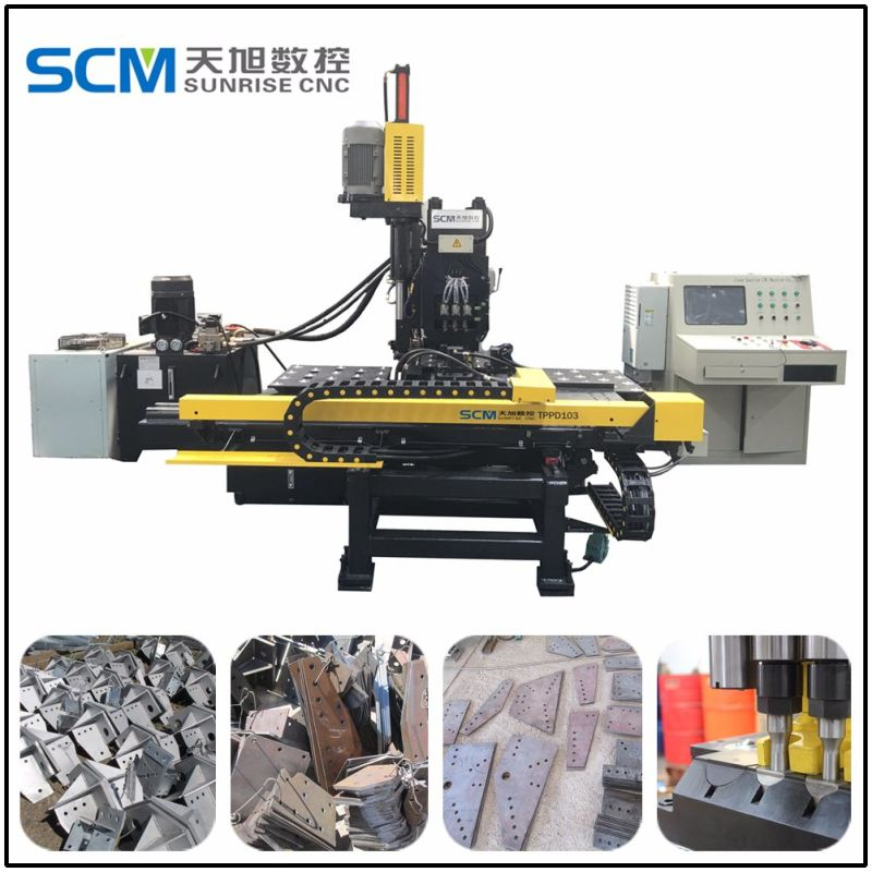 Punching and Drilling Machine for Joint Connection Steel Plates
