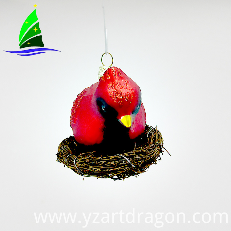 Glass Bird Tree Decoration Ornaments