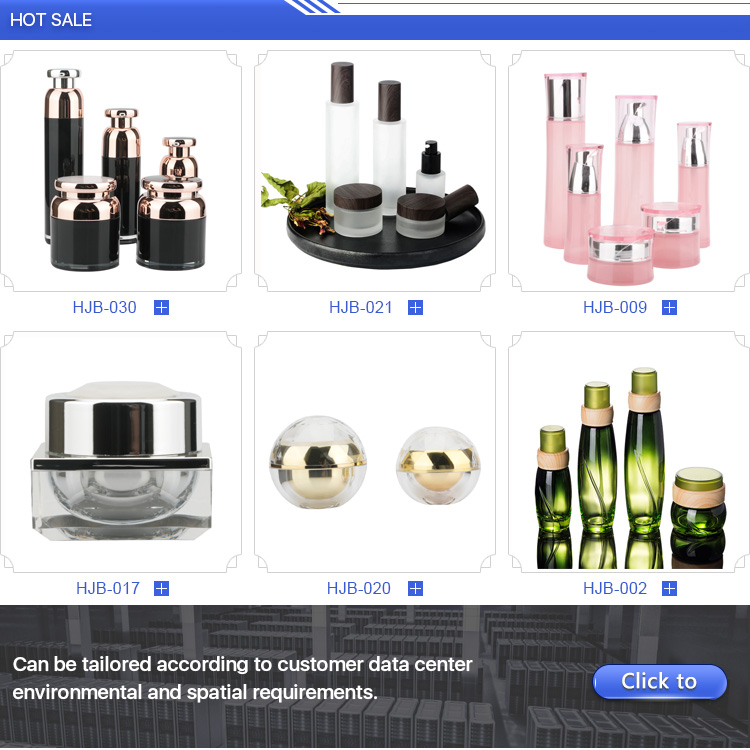 Empty packaging Square Bottle Set luxury cosmetic bottles