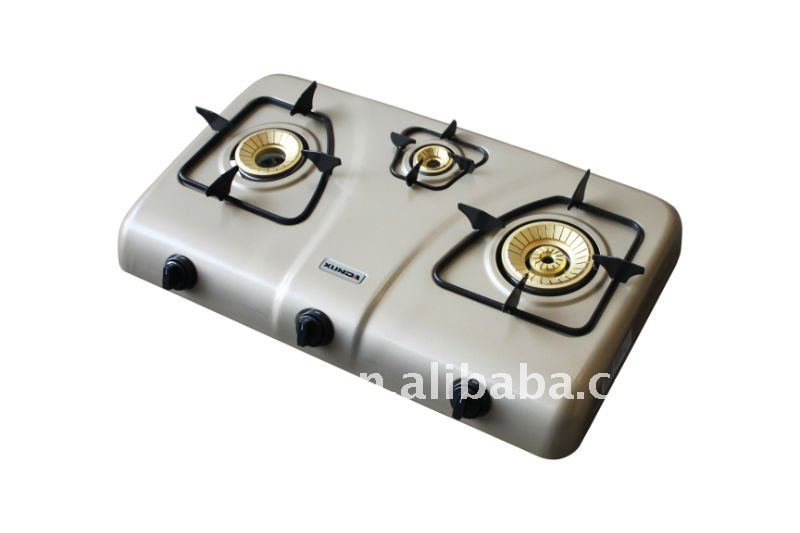 3 Burner Stainless Steel Gas Cooker