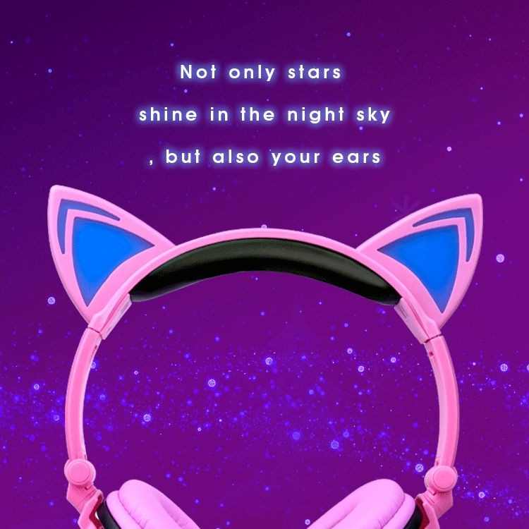 stereo cat headphone