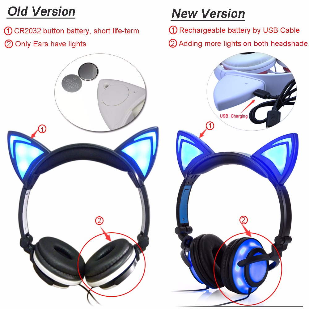 led light headphone for kids