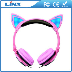 glowing light headband headphone